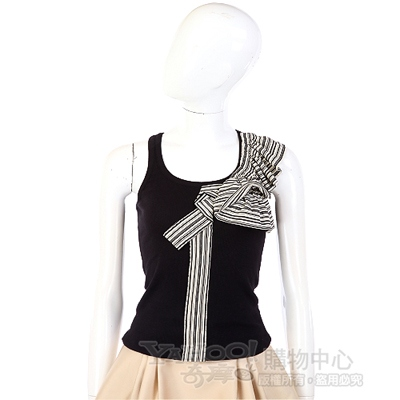 KENZO-antonio marras 黑色拼接條紋造型背心