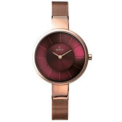 OBAKU 采麗時刻米蘭腕錶-葡萄紫x玫瑰金/32mm