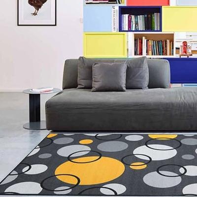 范登伯格 - 朝暘 進口地毯-炫彩黑黃 (中款-150 x 200cm)