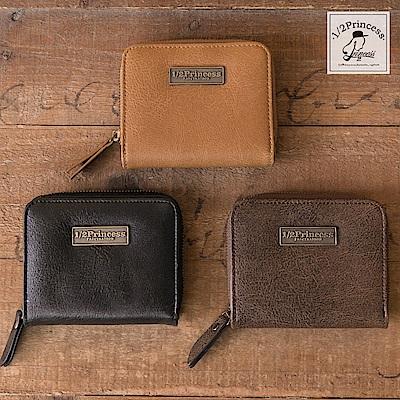 1/2princess二代復古耐磨皮革Q版方塊積木短夾零錢包-3色[A0035]