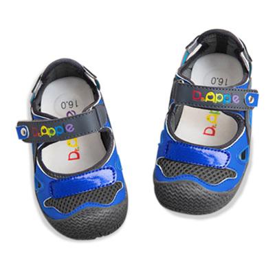 【Dr. Apple 機能童鞋】活潑亮彩護趾休閒鞋 藍