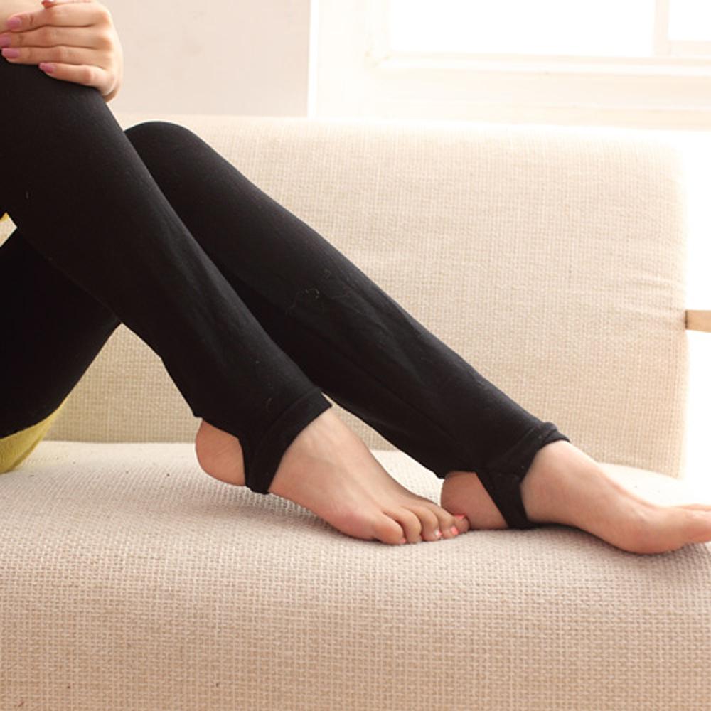 I-shi 美型窈窕寬板鬆緊腰踩腳褲