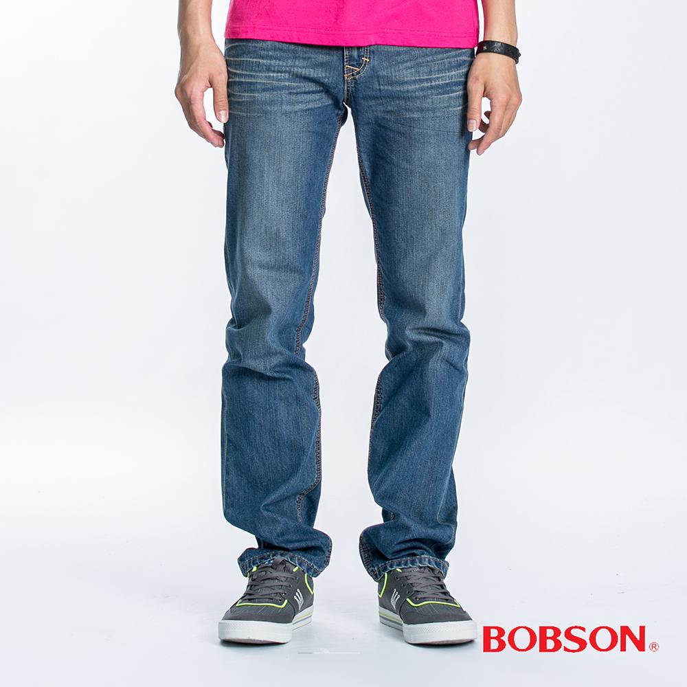BOBSON 男款衣絲不罣涼爽直筒牛仔褲