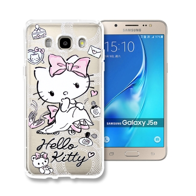 Hello Kitty貓 Samsung J5(2016) 透明空壓防震殼(成熟...