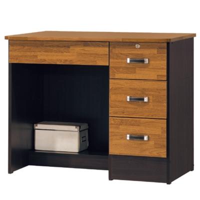 品家居 波琳3尺四抽書桌下座-90x54x75cm-免組