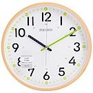 SEIKO 精工 簡約仿木紋外殼 滑動式秒針 靜音 時鐘 掛鐘-30.5cm