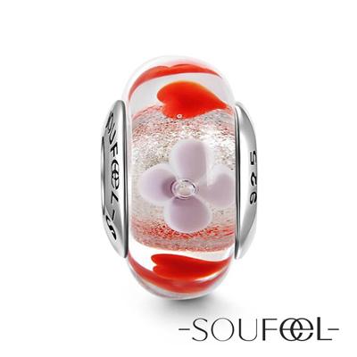 SOUFEEL索菲爾 925純銀珠飾 穆拉諾 小清新 琉璃珠