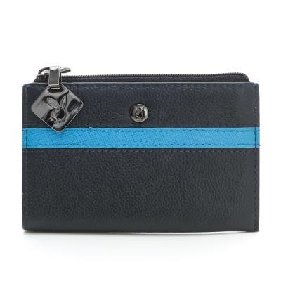 PLAYBOY-Q-Quade系列鑰匙零錢包-藍色