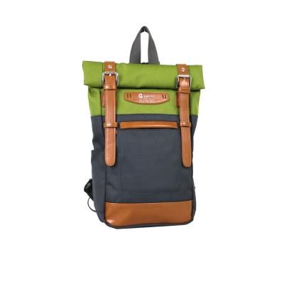 estilo - 時尚玩色系列 撞色設計 單/雙肩兩用包 - 草綠