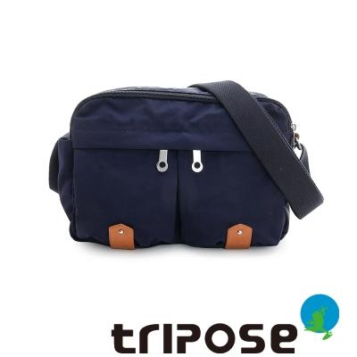 tripose MOVE系列多格層機能斜背包 - 深藍