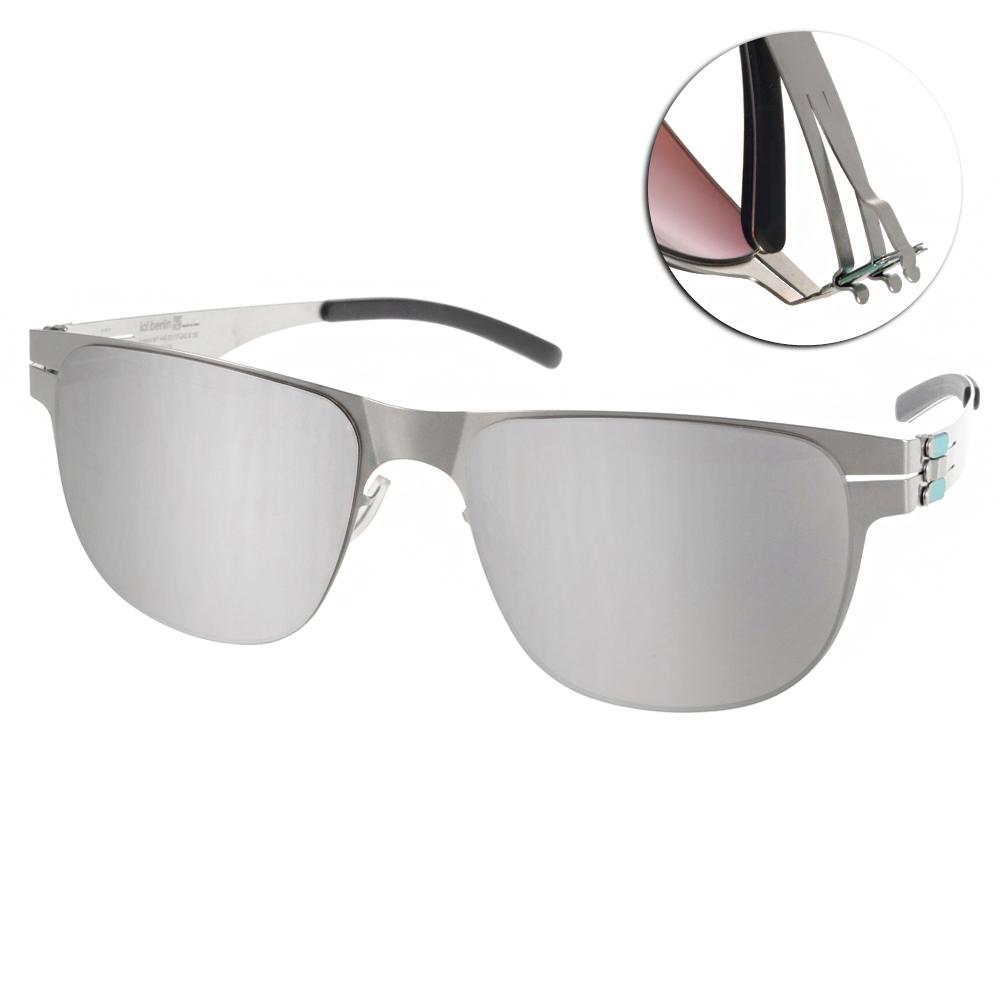 ic!berlin太陽眼鏡 薄鋼代表作/銀-白水銀#ULI E. PEARL