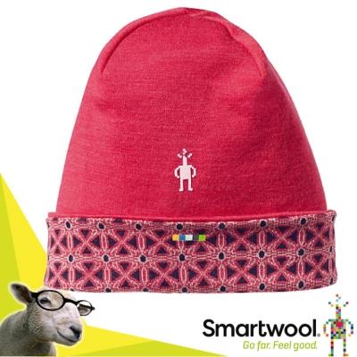 【美國 SmartWool 】NTS Mid 美麗諾羊毛 雙層雙面針織帽_魔藥粉紅