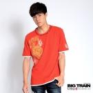 BIG TRAIN 降龍金剛杵圓領T-男-橘色