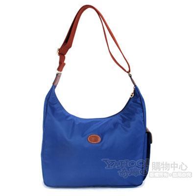 Longchamp 豔彩繽紛大斜背包-海軍藍