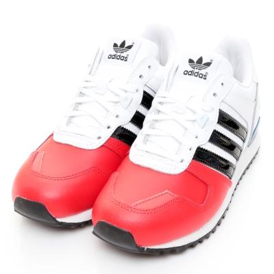 24H-ADIDAS-女休閒鞋AQ3080-白紅