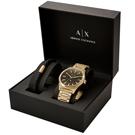A|X Armani Exchange 日照天起紳士套錶組(AX7104)-46mm
