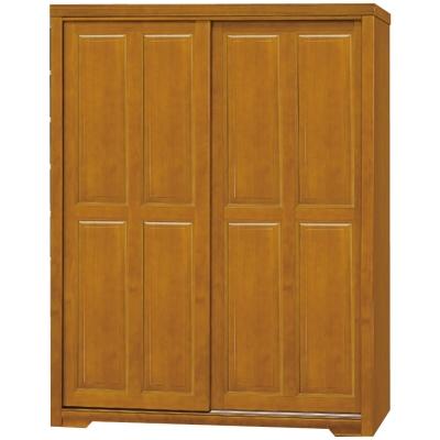 品家居 萊蒂5x7尺推門實木衣櫃