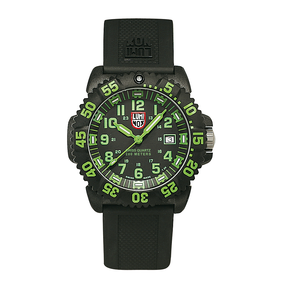 Luminox 3050 海豹部隊指標系列經典腕錶-黑x綠時標/44mm