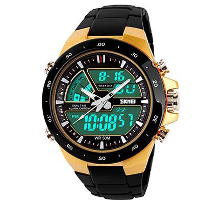 SKMEI 時刻美1016-雙機芯多功能防震防水電子錶 (2色任選)