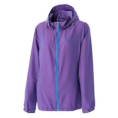 【Wildland 荒野】女RE彈性抗UV透氣輕薄外套-紫