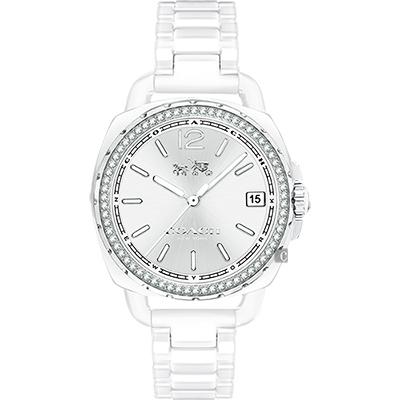 Coach 紐約摩登時尚陶瓷腕錶(14502601)-白/34mm