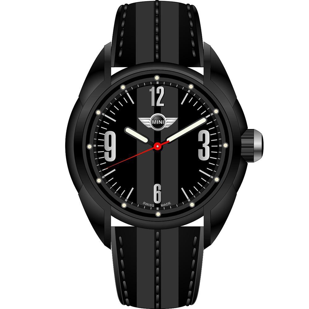 MINI Swiss Watches   休閒運動腕錶-黑/38mm