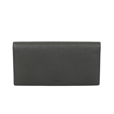 BALLY 防刮皮革對折長夾(黑色)
