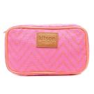 Kitson 螢光滾邊山形化妝包(S-Pink)