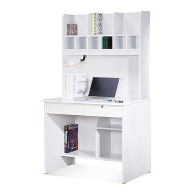AT HOME-金點將白色二抽書桌(上+下) 91x60x164 cm