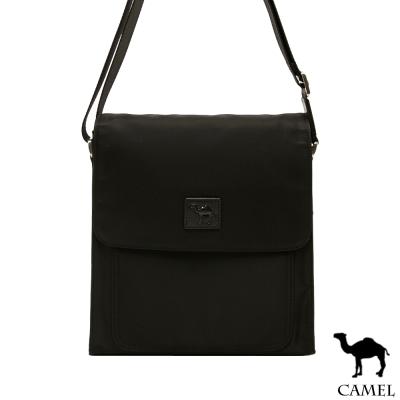 CAMEL - 倫敦品味十字紋防潑水牛皮直立側背包-共2色