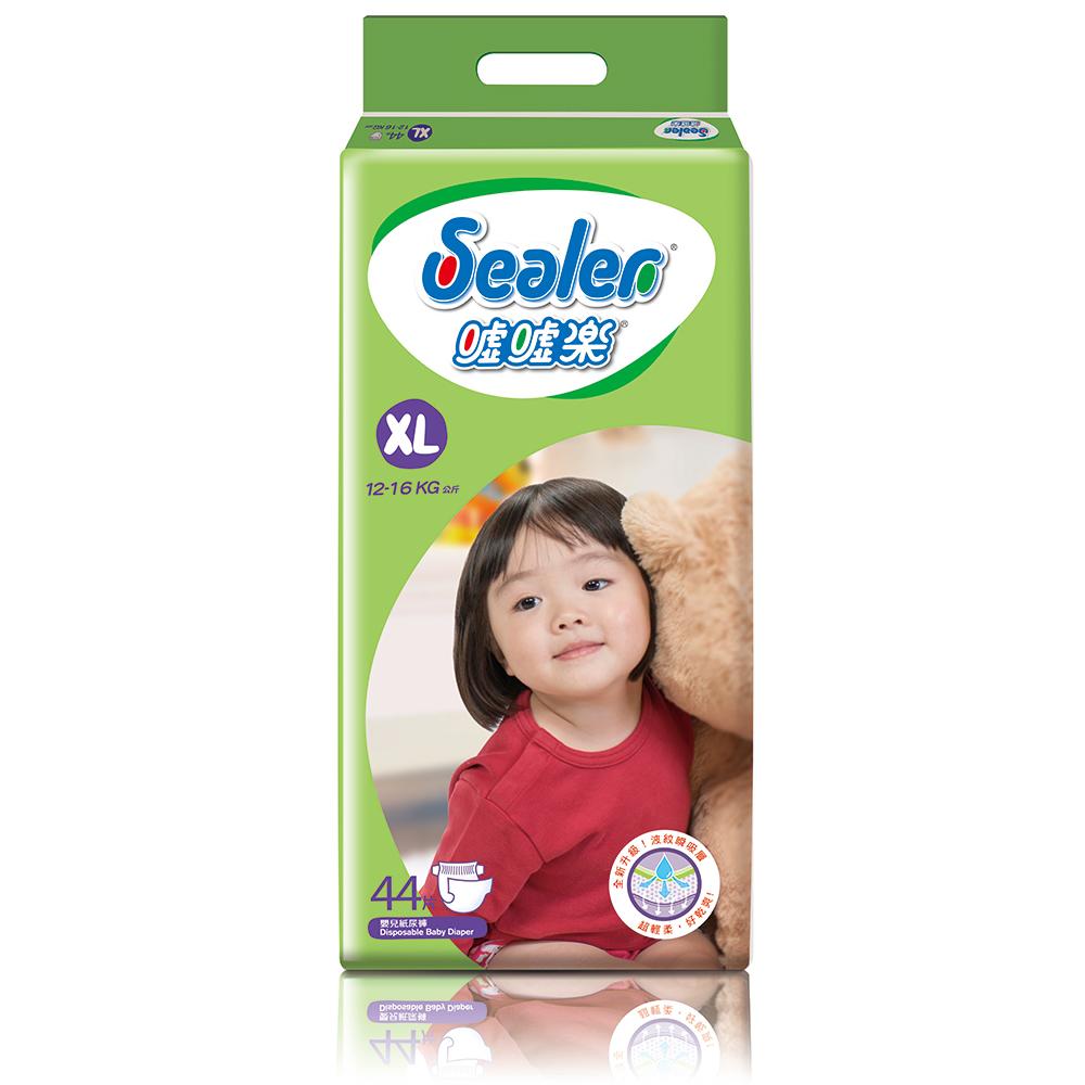Sealer噓噓樂輕柔乾爽嬰兒紙尿褲XL號(44片x6包/箱)