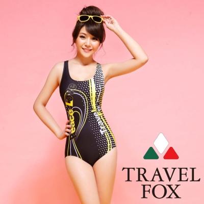 夏之戀TRAVEL FOX  極速競泳連身三角泳衣 (M~2L)