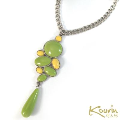 KOURIN藝術系列-普普風粉綠雙色長項鍊