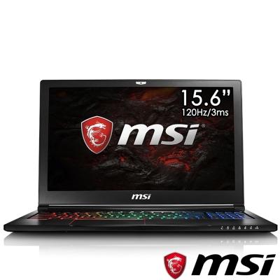MSI微星 GS63VR-605 15吋電競筆電(i7-7700/GTX1060/256G+2T