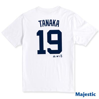 Majestic-紐約洋基隊TANAKA背號19號T恤-白
