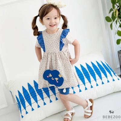 BEBEZOO 韓國 藍色雨滴點點內搭褲
