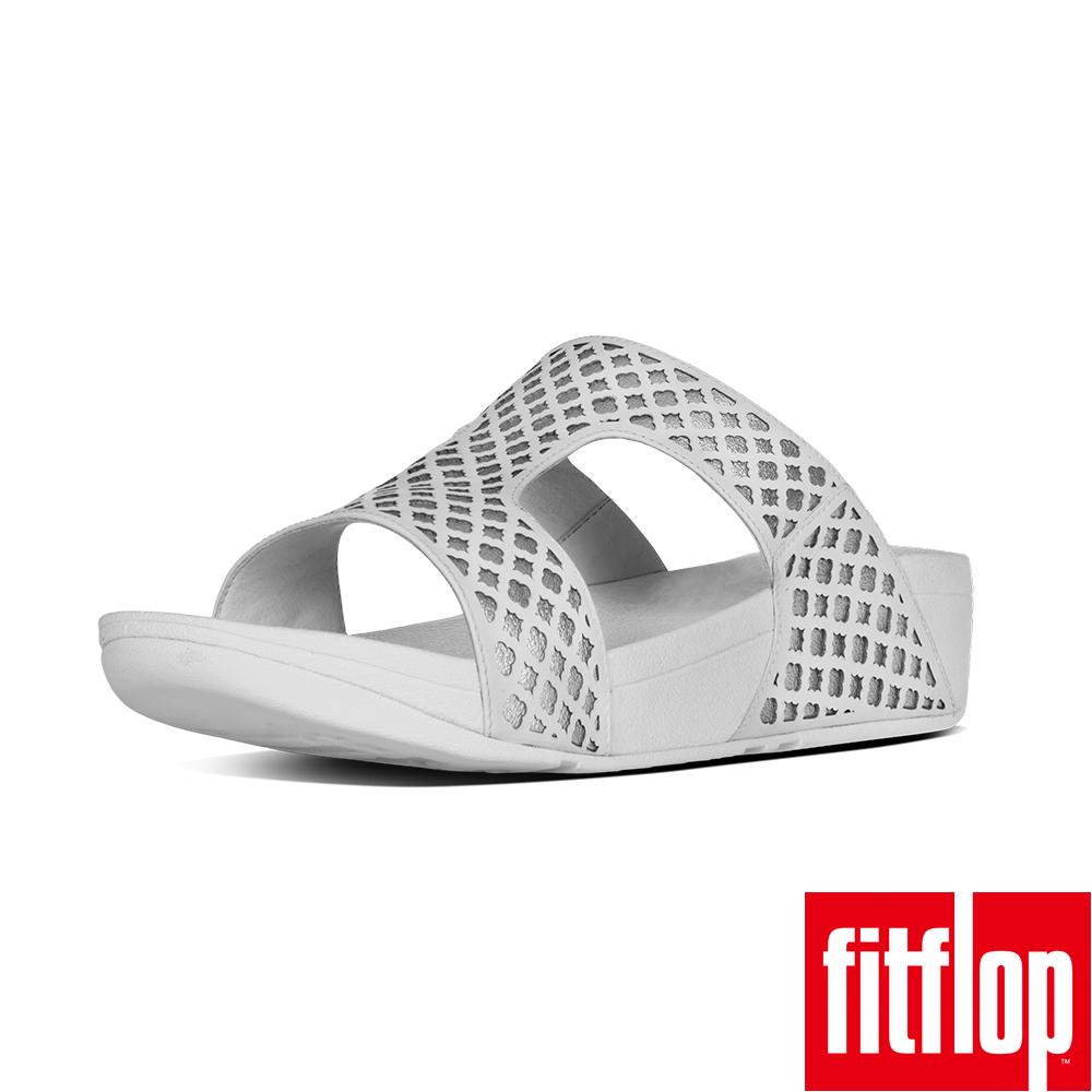FitFlop SAFI SLIDE SANDAL-白/銀色