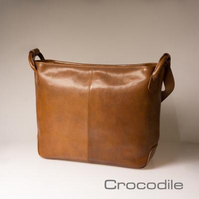Crocodile Naturale 2.0 義大利植鞣橫式側背包 0104-07703