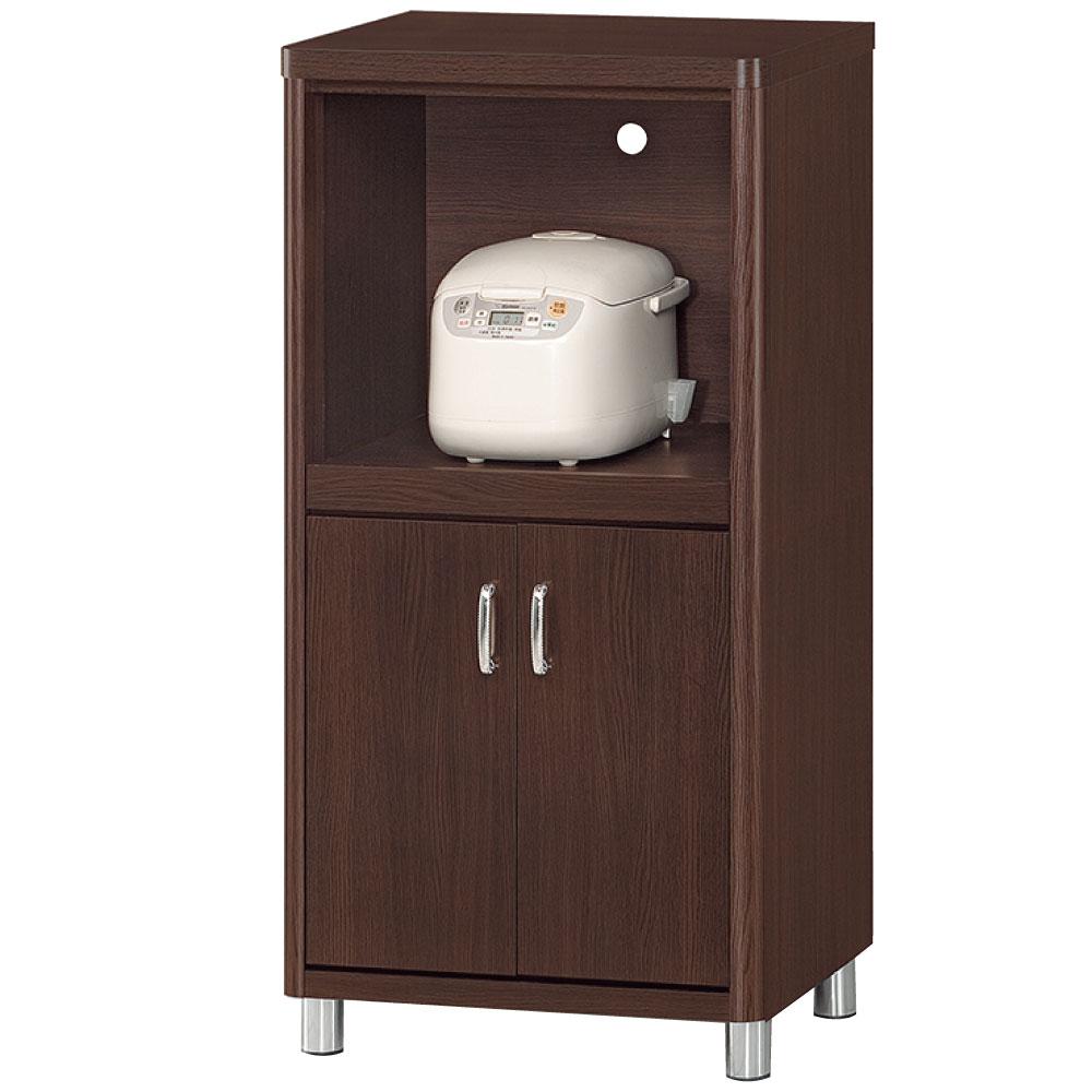 品家居 潔雅2x4尺胡桃色圓角收納餐櫃