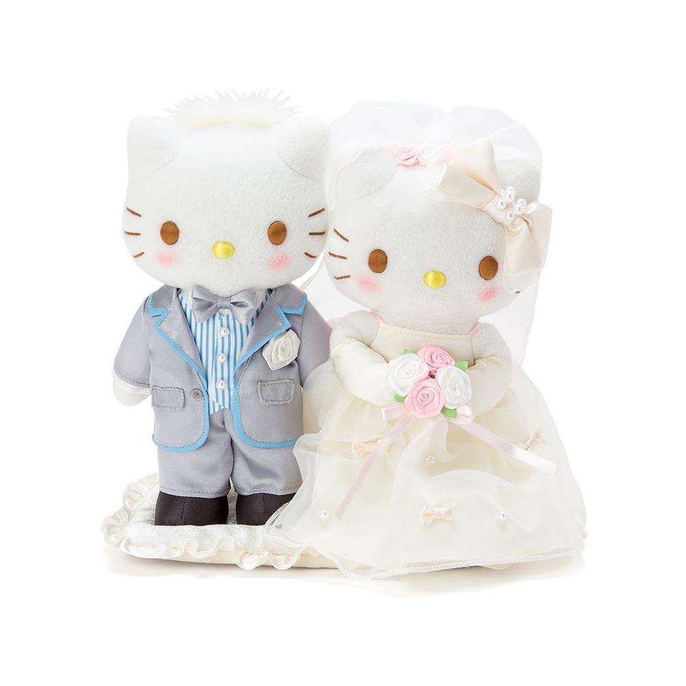 Sanrio HELLO KITTY*DANIEL精裝結婚絨毛娃娃