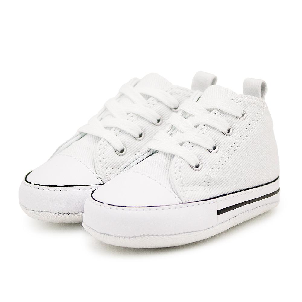CONVERSE-First Star Crib嬰兒鞋-白