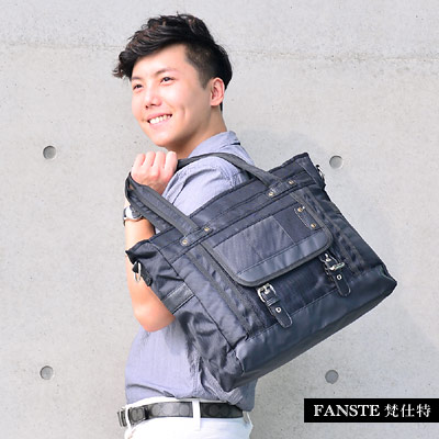 Fanste_梵仕特 休閒公事包 多功能側背包-9441