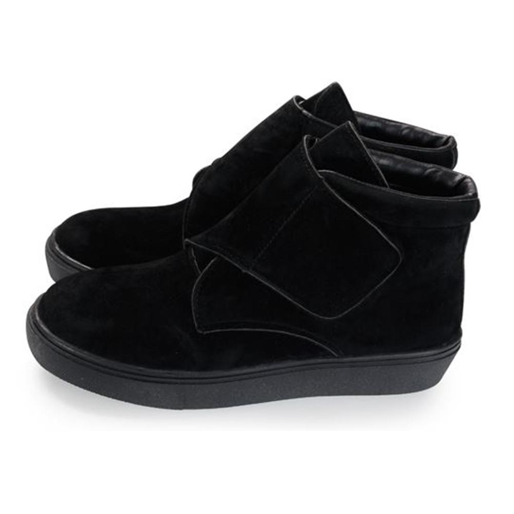 FUFA  MIT  絨毛黏帶馬靴 (FA63) 黑色