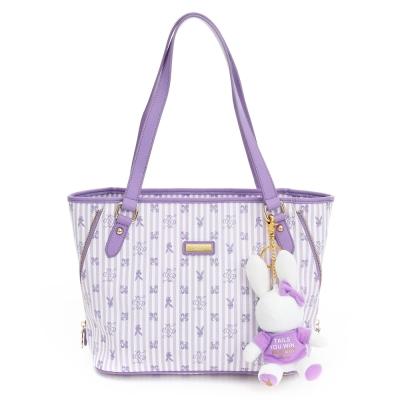 PLAYBOY-P-Peach-系列肩背包-粉紫色