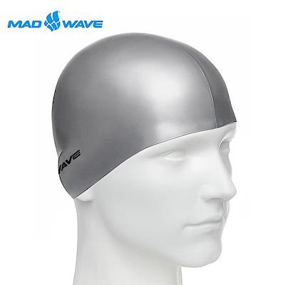 俄羅斯 邁俄威 成人矽膠泳帽 MADWAVE METAL