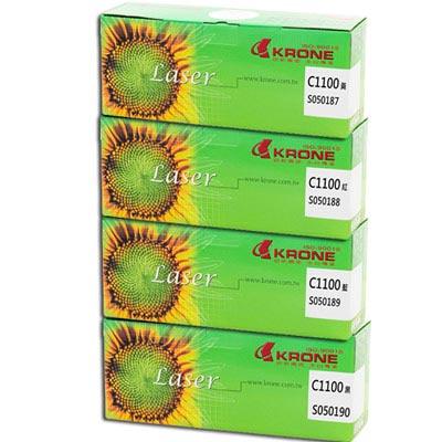 KRONE for EPSON C1100/CX-11F環保碳粉匣(1黑3彩)