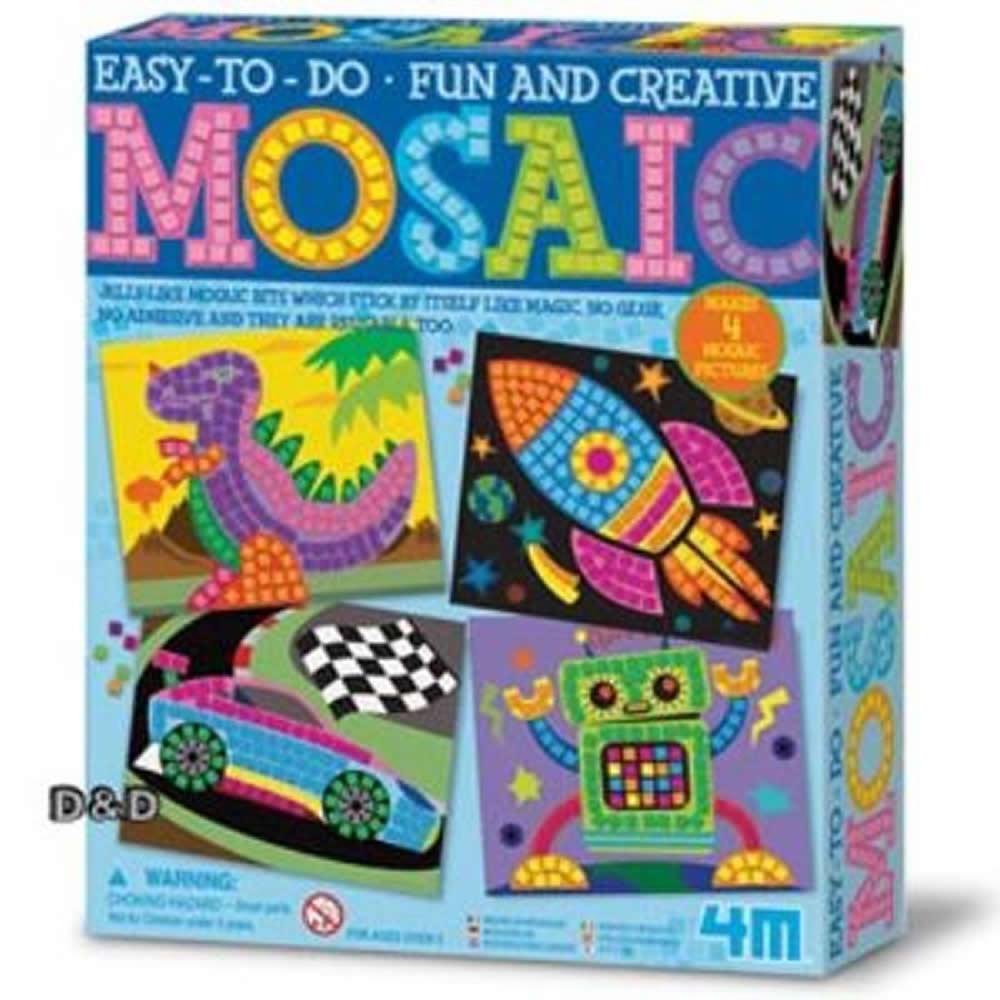 《 4M美勞創作 》Mosaic Art-Boy 馬賽克藝術組 (男孩版)