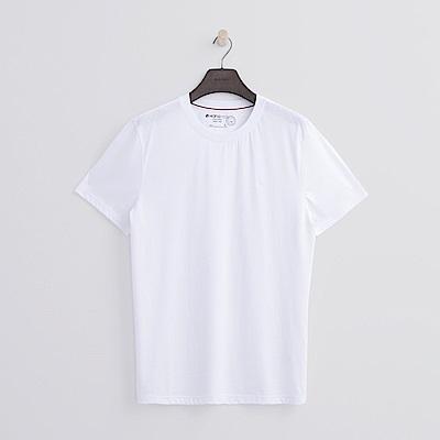 Hang Ten - 男裝 - 有機棉 基本圓領T恤-白色
