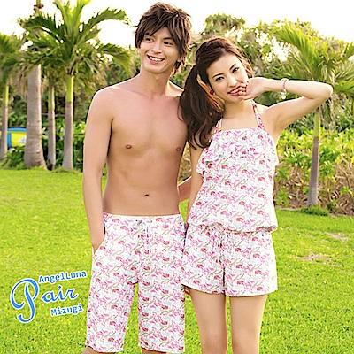 【AngelLuna日本泳裝】糖果色動物印花男款泳褲/海灘褲