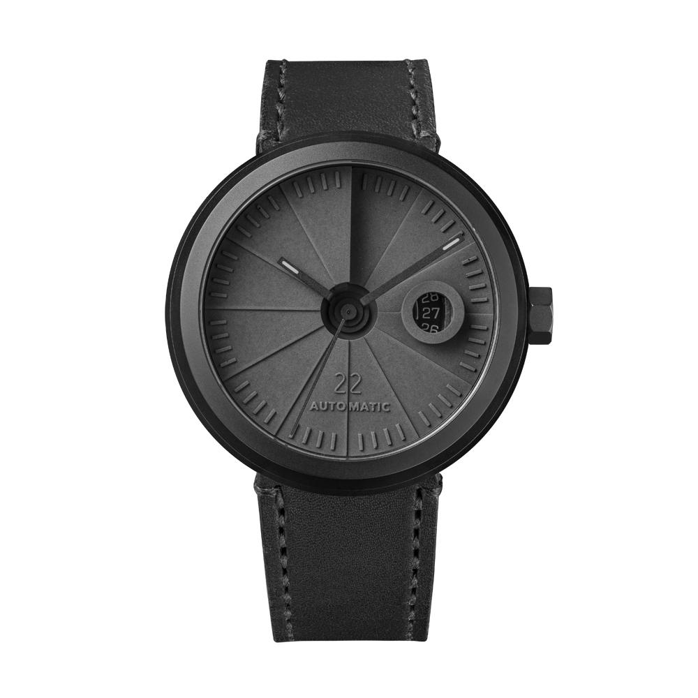 四度空間水泥機械錶-黯影款/45mm